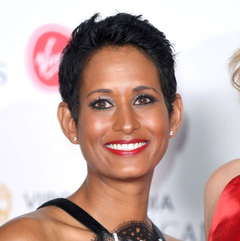 london, england   may 12 naga munchetty poses in the press room at the virgin tv bafta television award at the royal festival hall on may 12, 2019 in london, england photo by karwai tangwireimage
