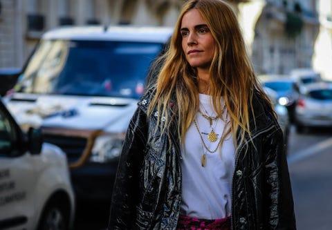 Blanca Miro' Scrimieri on the street during the Paris