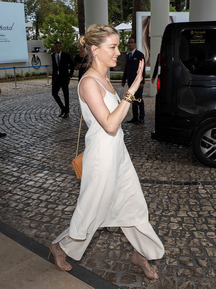 Amber Heard Out in Cannes during the festival.