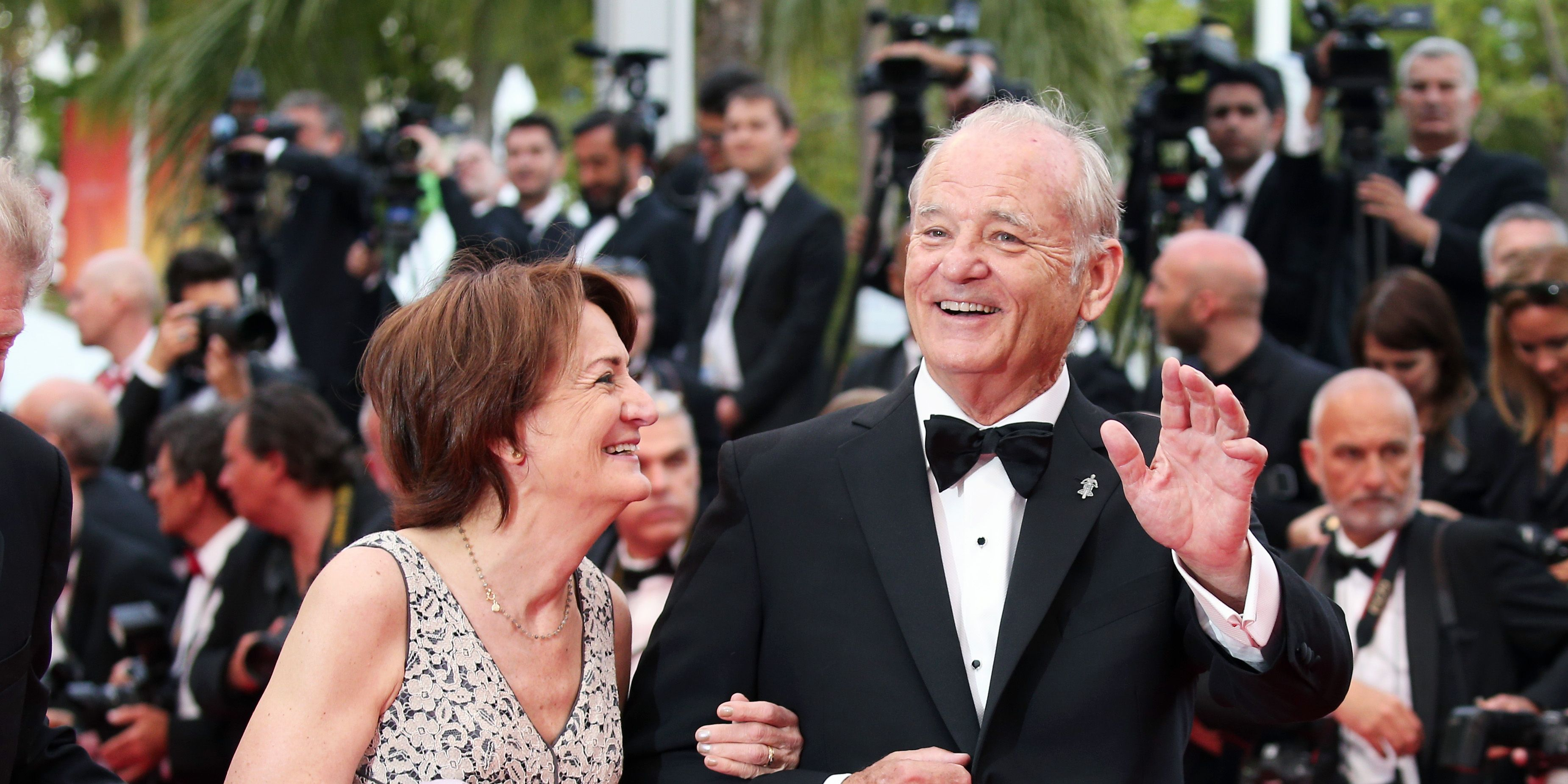 Bill Murray rocked a classic tux, while Taron Egerton went with a velvet bomber.
