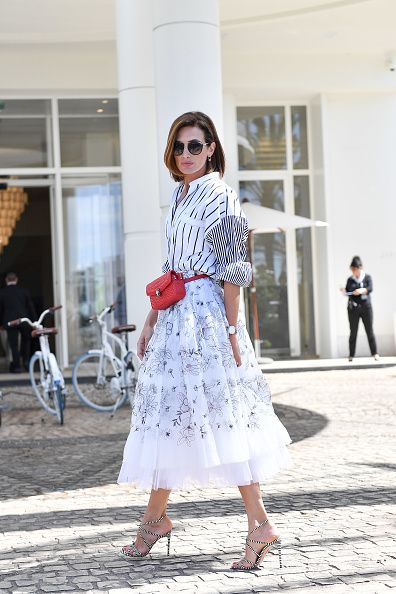 Nieves Alvarez Out in Cannes during the festival.