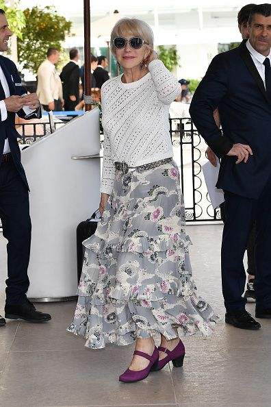 Helen Mirren Out in Cannes during the festival.