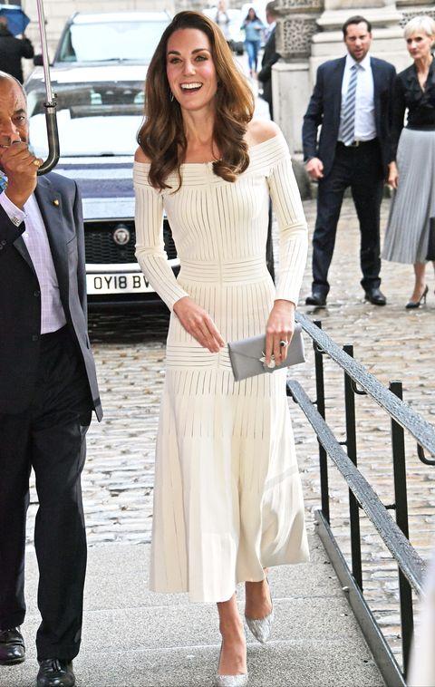 2ef3edf554 Kate Middleton Wears Barbara Casasola Dress at the Action on ...
