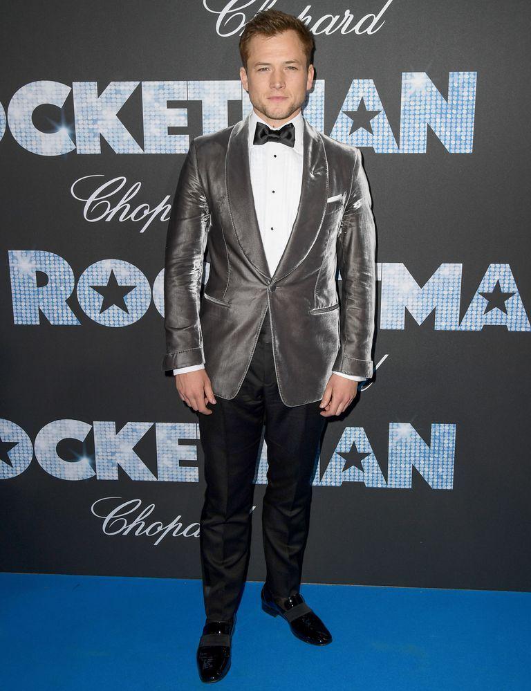 Taron Egerton's Rocketman Cannes Gala Fit Was Just Extravagant Enough
