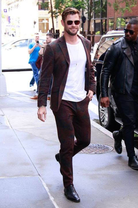 new york, ny   june 13 chris hemsworth is seen on june 13, 2019 in new york city  photo by mediapunchbauer griffingc images