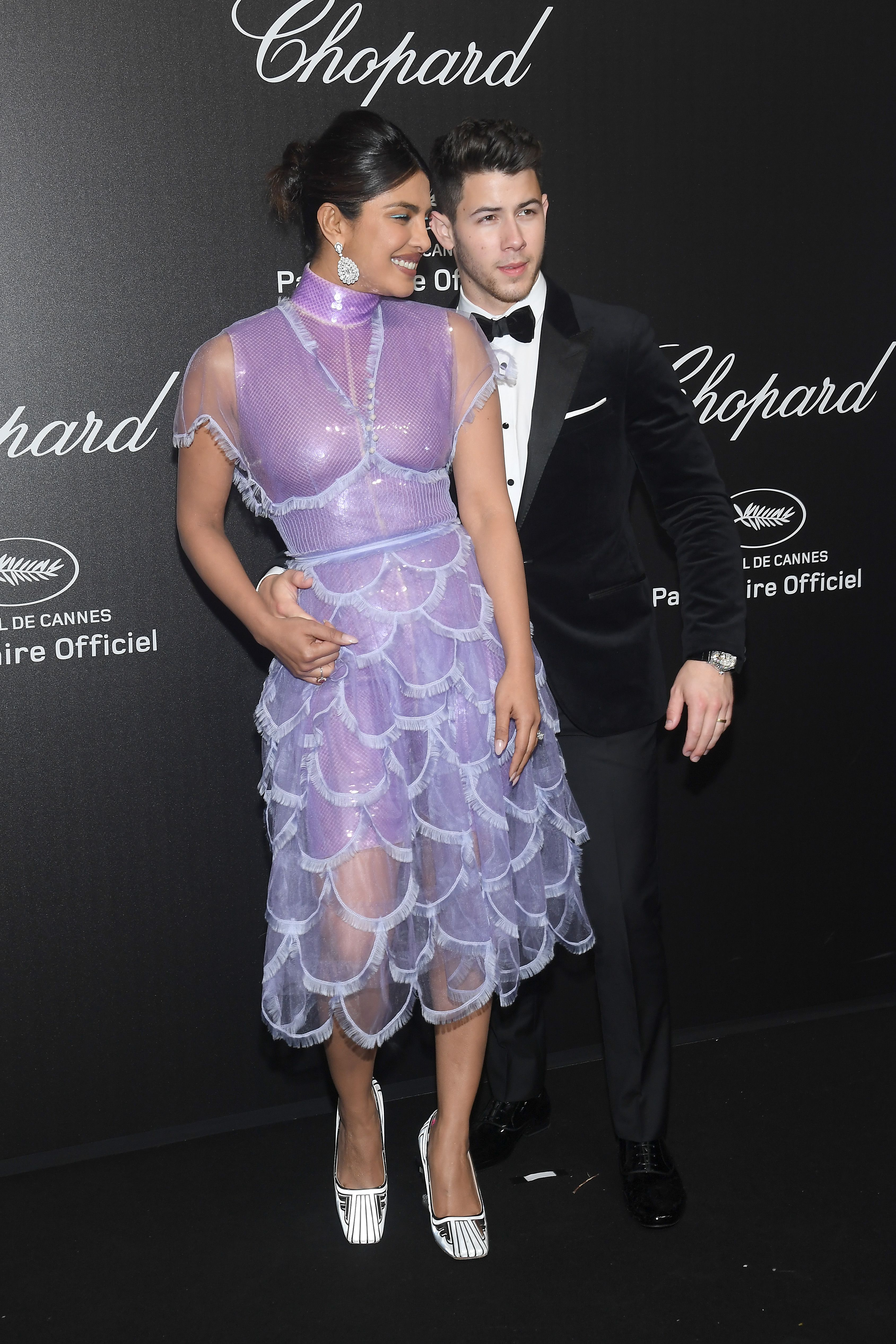 Priyanka Chopra and Nick Jonas Were Very Well-Dressed and Cuddly at Chopard's Cannes Party