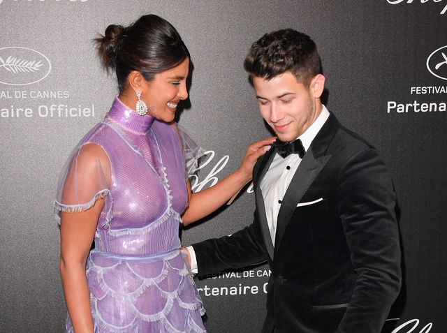 cannes, france   may 17 priyanka chopra and nick jonas attend the chopard party during the 72nd annual cannes film festival on may 17, 2019 in cannes, france photo by george pimentelwireimage