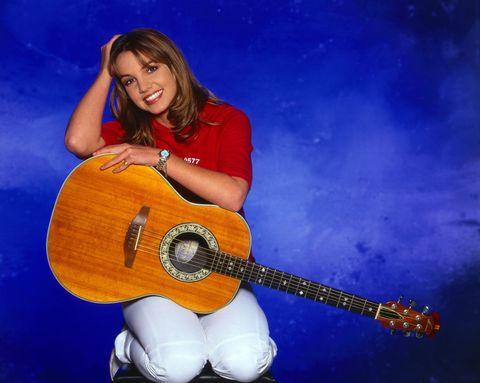 بریتنی اسپیرز ، خواننده پاپ آمریکایی ، در یک عکس تبلیغاتی در مونیخ ، آلمان 1999 خواننده پاپ آمریکایی بریتنی اسپیرز در یک عکسبرداری تبلیغاتی در مونیخ ، آلمان ، عکس 1999 توسط فردریک گابوویچ اتحادیه تصویر از طریق گتی ایماژ