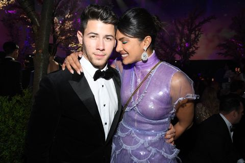 nick jonas and priyanka chopra at the chopard love night dinner on may 17, 2019
