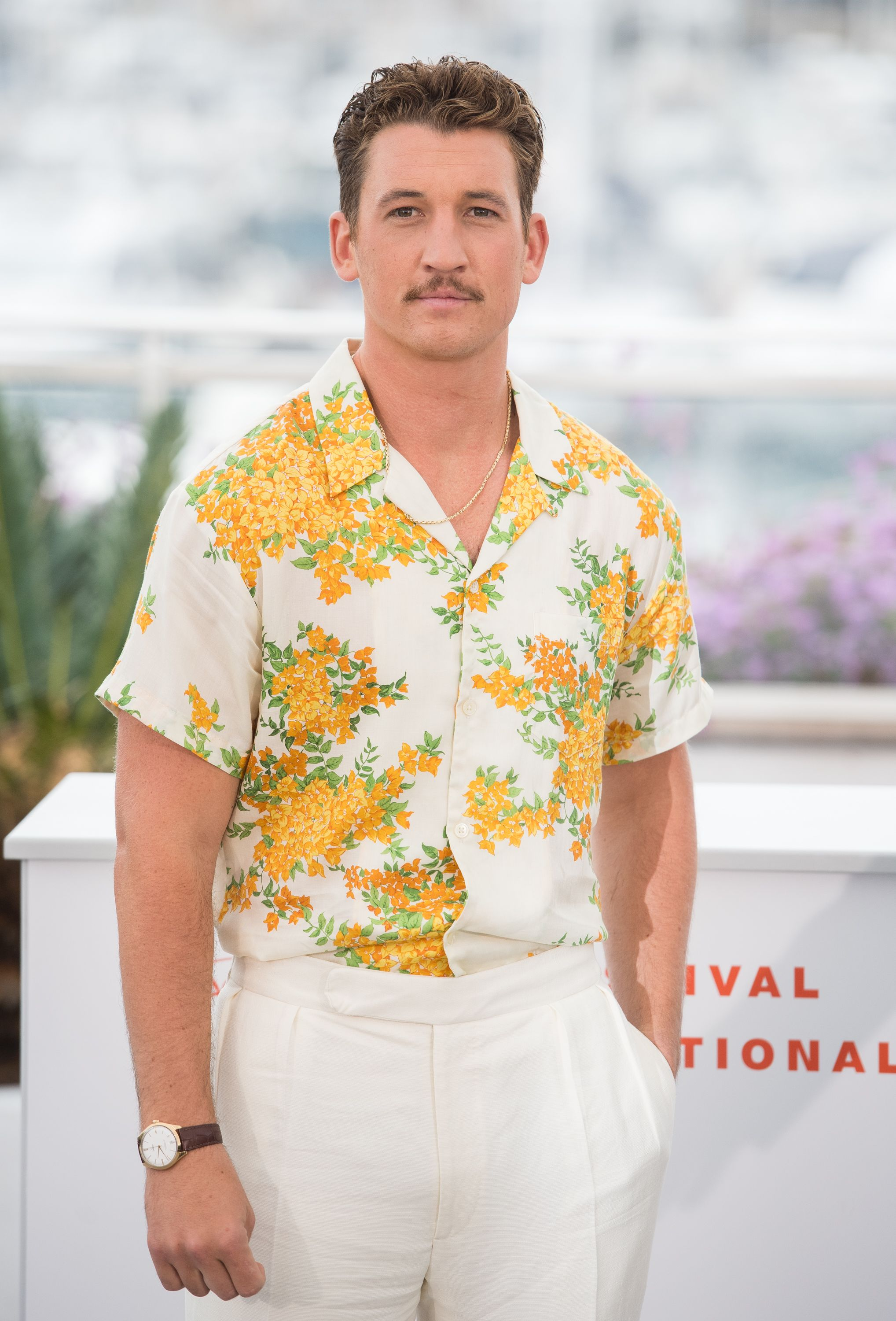 Miles Teller Perfected The Miami Mafioso Look At Cannes