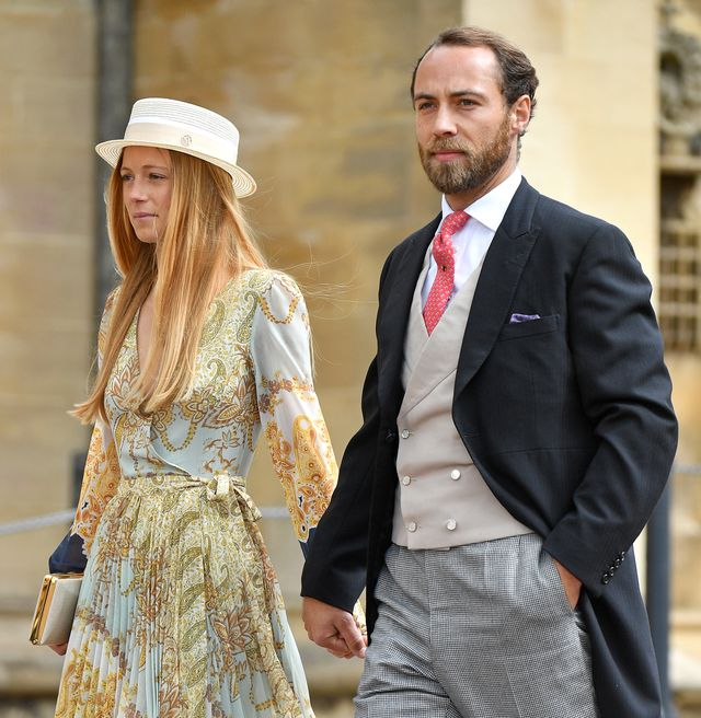 windsor, united kingdom   may 18 embargoed for publication in uk newspapers until 24 hours after create date and time alizee thevenet and james middleton attend the wedding of lady gabriella windsor and thomas kingston at st georges chapel on may 18, 2019 in windsor, england photo by poolmax mumbygetty images