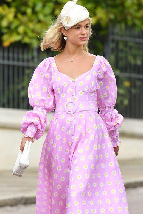 Lady Amelia Windsor royal wedding gul hurgel dress