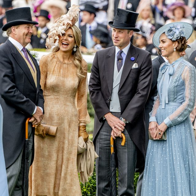 ascot, england   june 18 king willem alexander of the netherlands and queen maxima of the netherlands with william duke of cambridge and catherine duchess of cambridge on day one of royal ascot at ascot racecourse on june 18, 2019 in ascot, england photo by patrick van katwijkgetty images