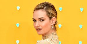 Lily James attends the UK Premiere of 'Yesterday' at the