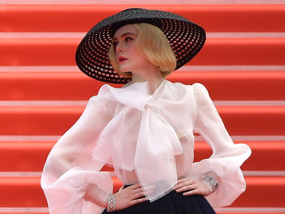 Elle Fanning Just Won Cannes, With A Dior Look That Oozed Old School Hollywood Glam
