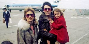 Paul, Linda And Stella Mccartney In United Kingdom In April, 1998.