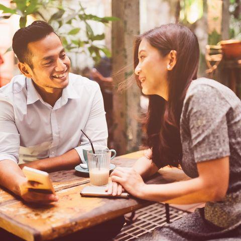 Dating Malaysian Woman and Man in Kuala Lumpur Coffee Shop
