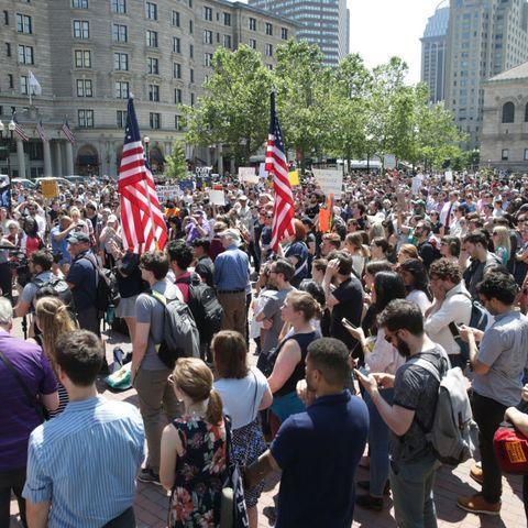 Crowd, People, Event, Rebellion, Protest, Demonstration, Public event, Pedestrian, City, Street,