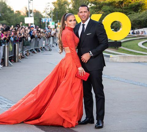 Jennifer Lopez and Alex Rodriguez at the 2019 CFDA Fashion Awards