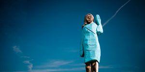 La curiosa statua dedicata a Melania Trump