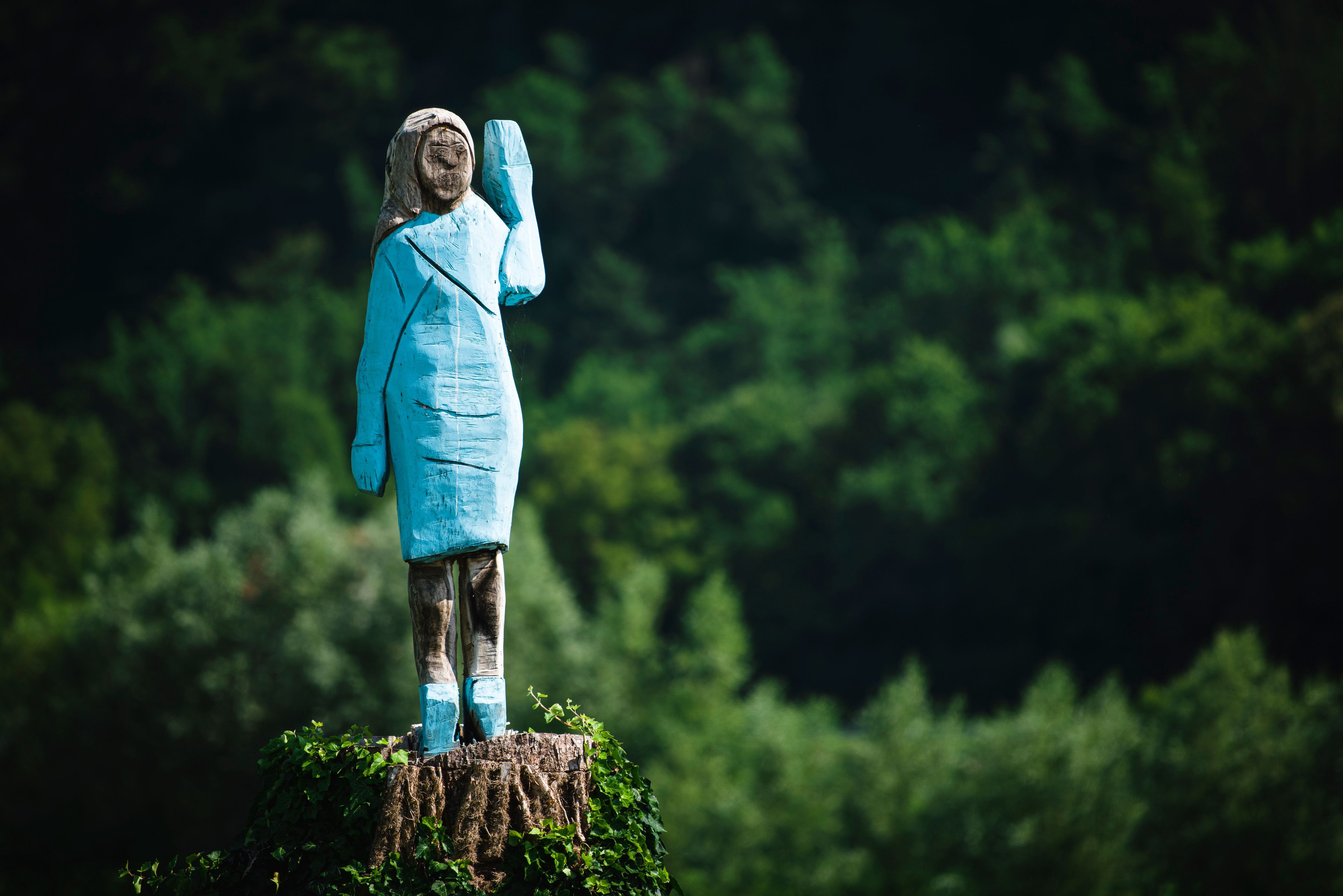 Melania Trump's New Statue Is Straight Out Of 'Midsommar'