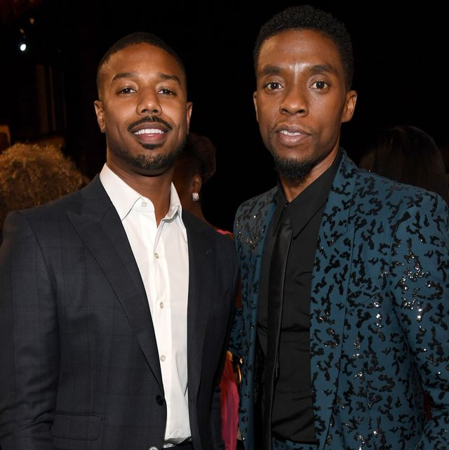 hollywood, california   june 06 michael b jordan and chadwick boseman attend the 47th afi life achievement award honoring denzel washington at dolby theatre on june 06, 2019 in hollywood, california photo by kevin mazurgetty images for warnermedia 610461