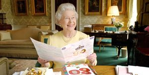 HM Queen Elizabeth II Displays Cards Sent For Her 80th Birthday - April 20, 2006