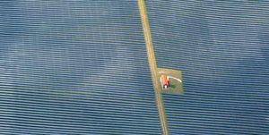 solar panels farming