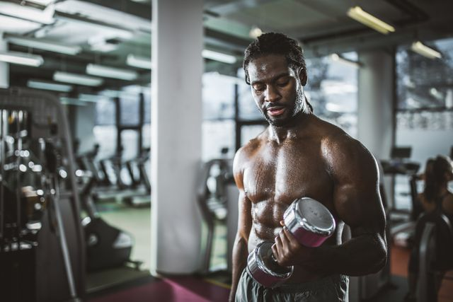 Muscle, Bodybuilding, Gym, Physical fitness, Room, Barechested, Arm, Shoulder, Sport venue, Boxing,