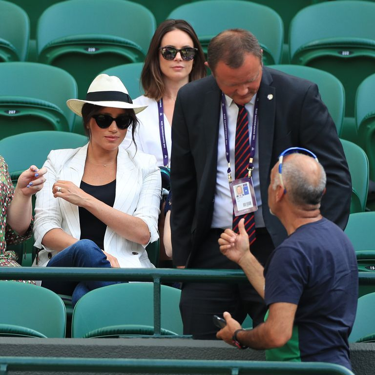 Image result for meghan markle wimbledon security