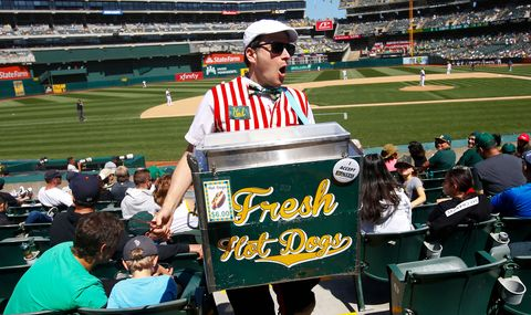 hal the hot dog guy selling hot dogs