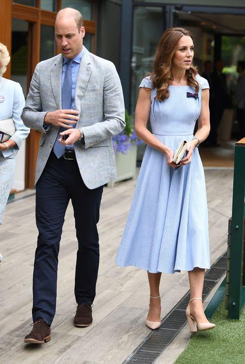2019 溫布敦網球賽  名人穿搭Prince William and Kate Middleton
