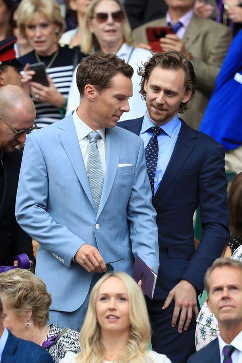 2019 溫布敦網球賽  名人穿搭Benedict Cumberbatch and Tom Hiddleston