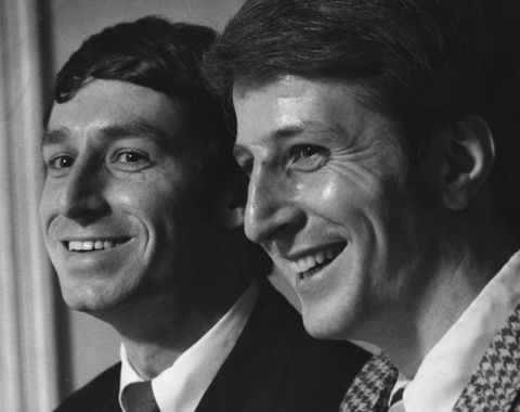"james michael ""mike"" mcconnell at left and jack baker right, got married in public see articles nov 22, 1970 tribune, april 10, 1972 star, april 22, 1978 star, and other articles minneapolis tribune photo november 1970 by pete hohn photo by pete hohnstar tribune via getty images"