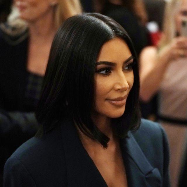 kim kardashian wears a blue blazer