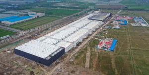 CHINA SHANGHAI TESLA GIGAFACTORY 3 CONSTRUCTION