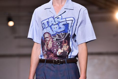 Clothing, T-shirt, Blue, Sleeve, Fashion, Street fashion, Shirt, Cool, Top, Design,