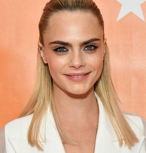 Cara Delevingne Straight Shoulder Length Hair