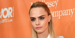 Cara Delevingne Straight Shoulder Length Lob Hair
