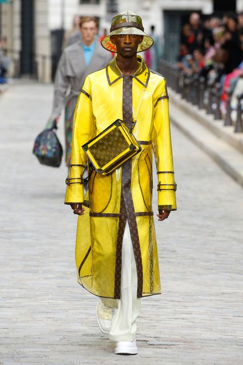 Yellow, Fashion, Headgear, Street fashion, Outerwear, Uniform, Costume,