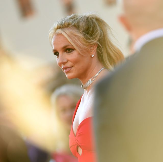 us singer britney spears arrives for the premiere of sony pictures once upon a time in hollywood at the tcl chinese theatre in hollywood, california on july 22, 2019 photo by valerie macon  afp photo by valerie maconafp via getty images