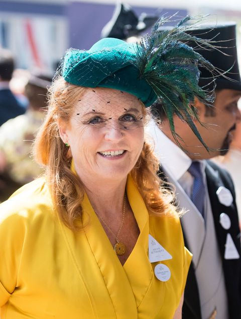 ascot, england   june 21 sarah, duchess of york on day four of royal ascot at ascot racecourse on june 21, 2019 in ascot, england photo by samir husseinwireimage