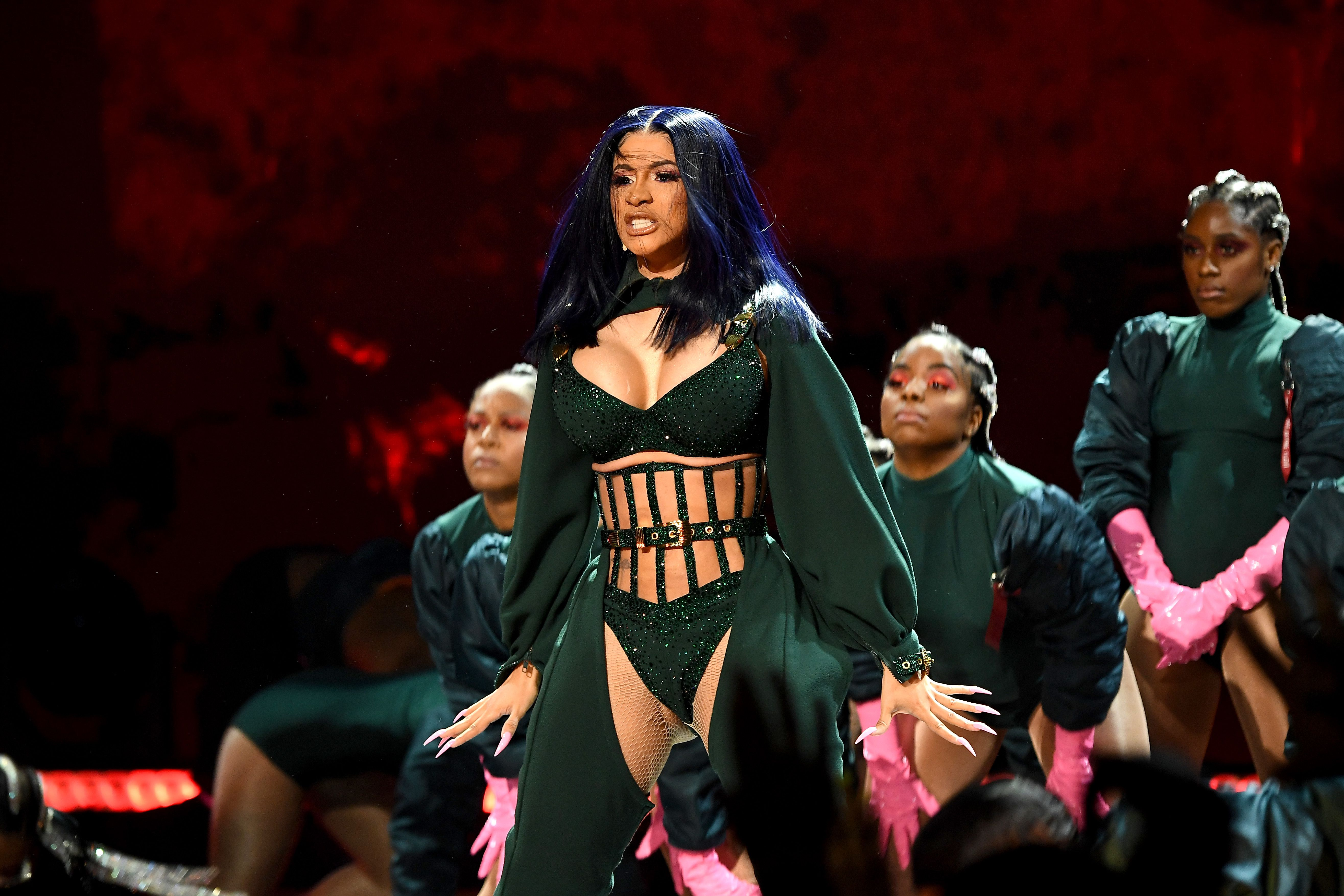 Cardi B Debuted Two Gorgeous Hair Lewks in a Row at the BET Award Celebrations