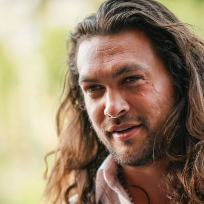 paris, france   june 28 jason momoa arrives at laperouse restaurant where a pre wedding dinner for zoe kravitz and karl glusma is to be held on june 28, 2019 in paris, france photo by edward berthelotgc images