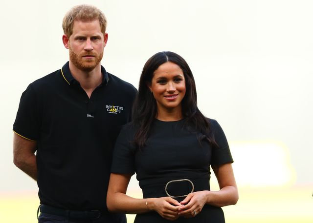 london, england   june 29  prince harry, duke of sussex and meghan, duchess of sussex look on during the pre game ceremonies before the mlb london series game between boston red sox and new york yankees at london stadium on june 29, 2019 in london, england photo by dan istitene   poolgetty images