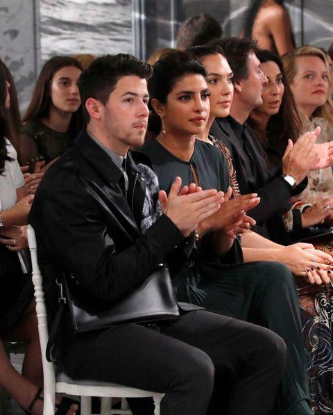 Priyanka Chopra and Nick Jonas atChristian Dior  : Front Row - Paris Fashion Week - Haute Couture Fall/Winter 2019/2020