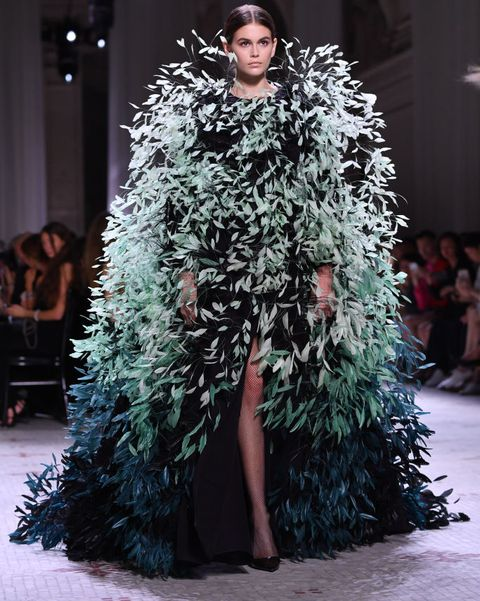 paris, france   july 02 kaia gerber walks the runway during the givenchy haute couture fallwinter 2019 2020 show as part of paris fashion week on july 02, 2019 in paris, france photo by pascal le segretaingetty images