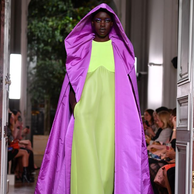 paris, france   july 03 a model walks the runway during the valentino  fallwinter 2019 2020 show as part of paris fashion week on july 03, 2019 in paris, france photo by pascal le segretaingetty images