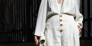 pantalones culotte blancos stradivarius look