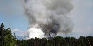 Wildfire Burns In Alaska During Heatwave